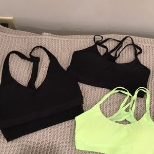 Under armour sorts bras lot, XS